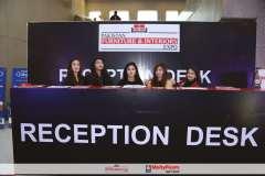 Furniture exhibition reception desk